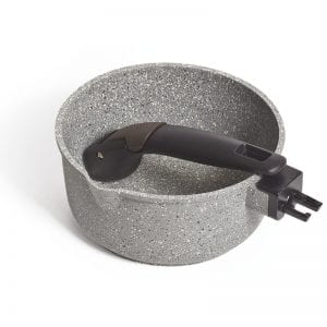 Compact Non-stick Saucepan with Lid 16cm