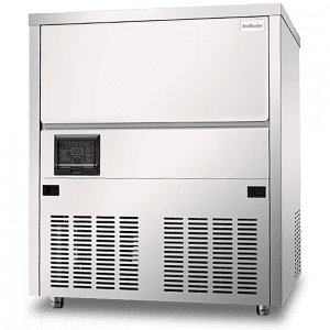 SnoMaster Plumbed-In Undercounter Commercial Ice Maker (Square) with 80kg/24h Ice Production Capacity (SM80S)
