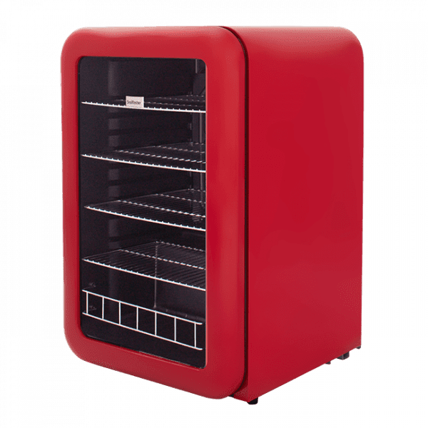 SnoMaster 115L Portable Under Counter Beverage Cooler (SM-200R) Retro Red Right View