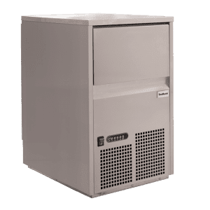 SnoMaster 26kg Plumbed-In Commercial Ice Maker for Bars and Restaurants (SM-26S) Angled View