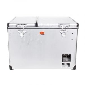 SnoMaster 56L Dual Compartment Stainless Steel Fridge/Freezer AC/DC (SMDZ-CL56D)