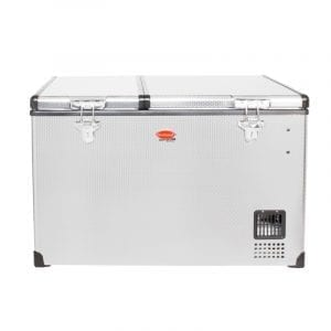 SnoMaster 66L Dual Compartment Stainless Steel Fridge/Freezer AC/DC (SMDZ-EX67D)