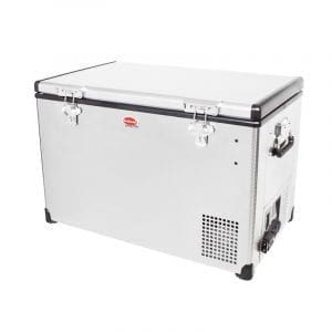 SnoMaster 75L Compressor Cooled Single Compartment Portable Stainless Steel Camping Fridge/Freezer (SMDZEX75) Left Side