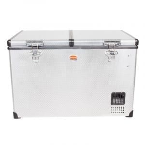 SnoMaster 82.5L Dual Compartment Stainless Steel Fridge/Freezer AC/DC (SMDZ-TR82D)