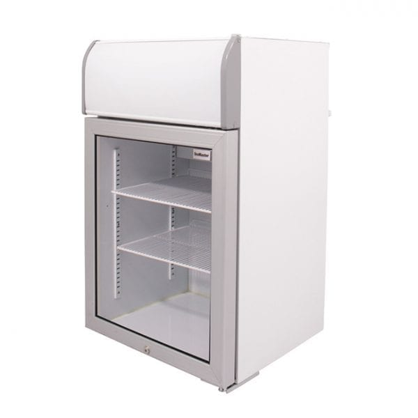 SnoMaster 70L Countertop Freezer with Glass Door and Lightbox (SMCTB-100FF) Right View