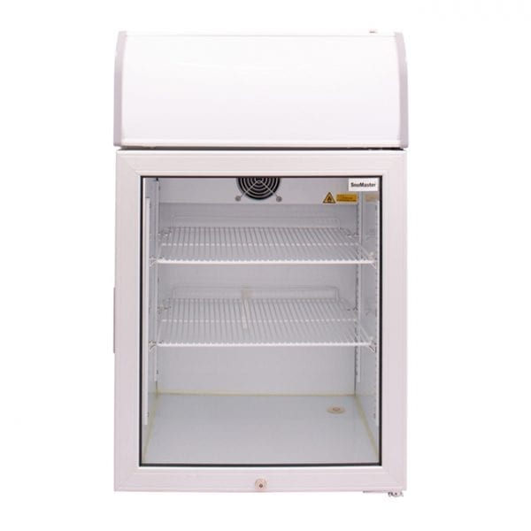 SnoMaster 70L Countertop Freezer with Glass Door and Lightbox (SMCTB-100FF) Front View