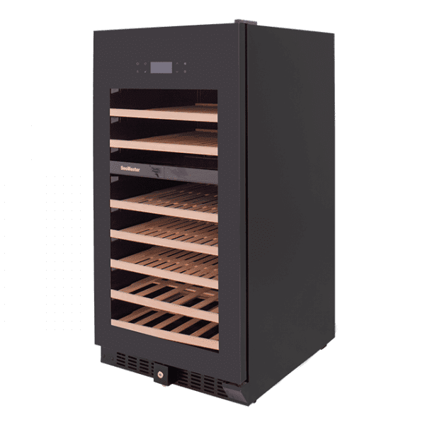 SnoMaster 94 Bottle Dual Zone Wine Cooler with Tinted Tempered Glass Door (VT-94PRO) Left View