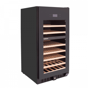 SnoMaster 94 Bottle Dual Zone Wine Cooler with Tinted Tempered Glass Door (VT-94PRO) Right View
