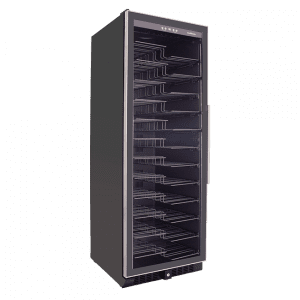 SnoMaster 140 Bottle Upright Glass Door Single Zone Wine Cooler (VT-181(1)) Right View