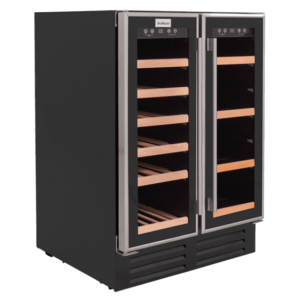 SnoMaster 116L Double Glass DoorBeverage/Wine Cooler with Digital Thermostat