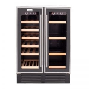 SnoMaster 116L Double Glass Door Beverage/Wine Cooler (VT-19D)