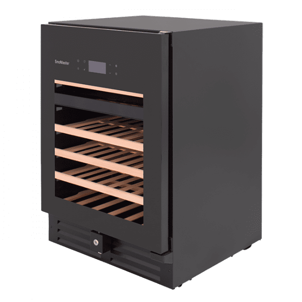 SnoMaster Ultra Quiet 46 Bottle Dual Zone Wine Chiller with Digital Temperature Left View