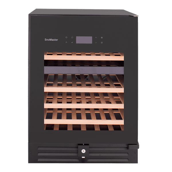 SnoMaster Ultra Quiet 46 Bottle Dual Zone Wine Chiller with Digital Temperature Front View