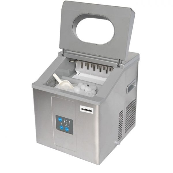 SnoMaster 15kg Stainless Steel Portable Ice Maker (ZBC-15D) 12 Ice Cubes / Cycle