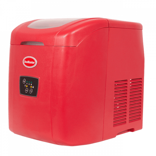 SnoMaster 12kg Portable Ice Making Machine (10 Bullet Ice Cubes Per Cycle) Red