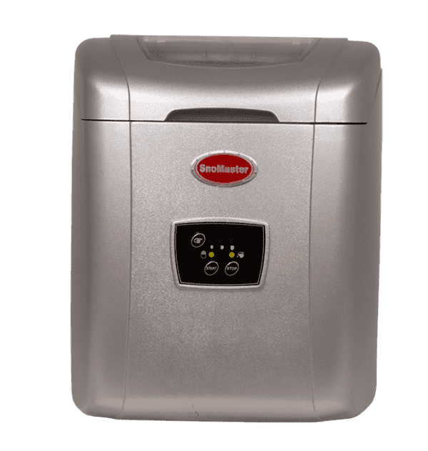 silver table-top ice maker