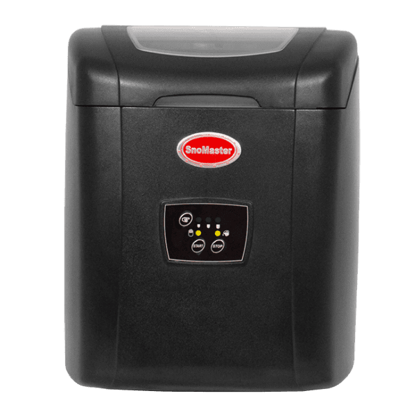 SnoMaster 12KG Portable Ice Maker (ZB-14) 10 Bullet Ice Cubes / Cycle Black Right View Closed Lid