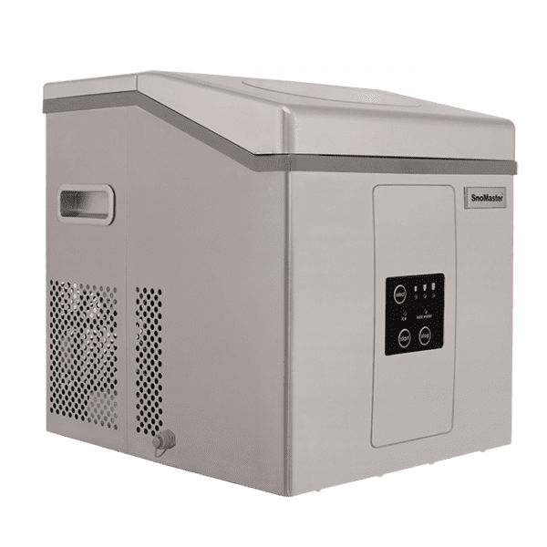 SnoMaster Portable Ice Maker Stainless Steel 12 Bullet Ice Cubes / Cycle (ZBC15)
