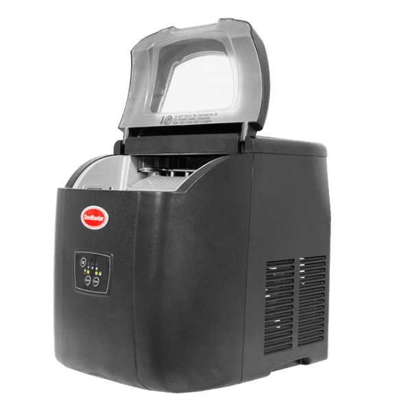 SnoMaster 12KG Portable Ice Maker (ZB-14) 10 Bullet Ice Cubes / Cycle Black Right View Open Lid