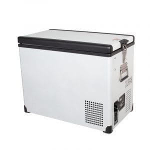SnoMaster 81.5L Dual Compartment Stainless Steel Fridge/Freezer AC/DC