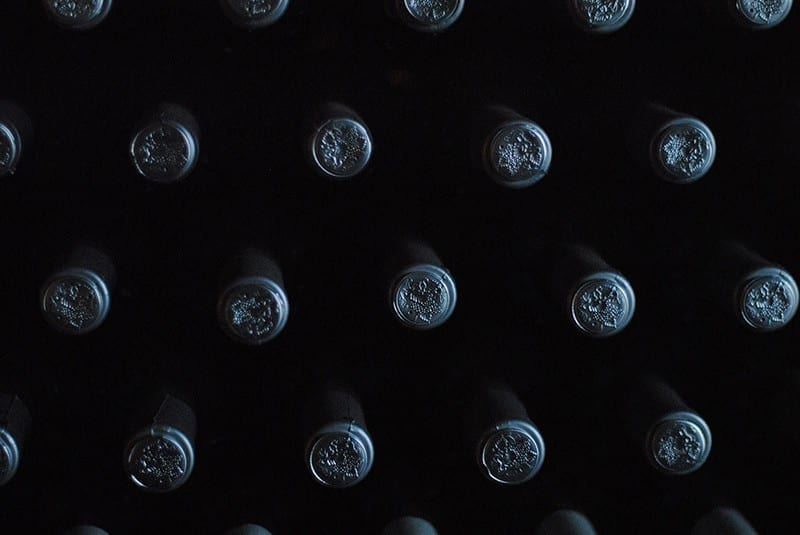wine stored at low light and low vibration