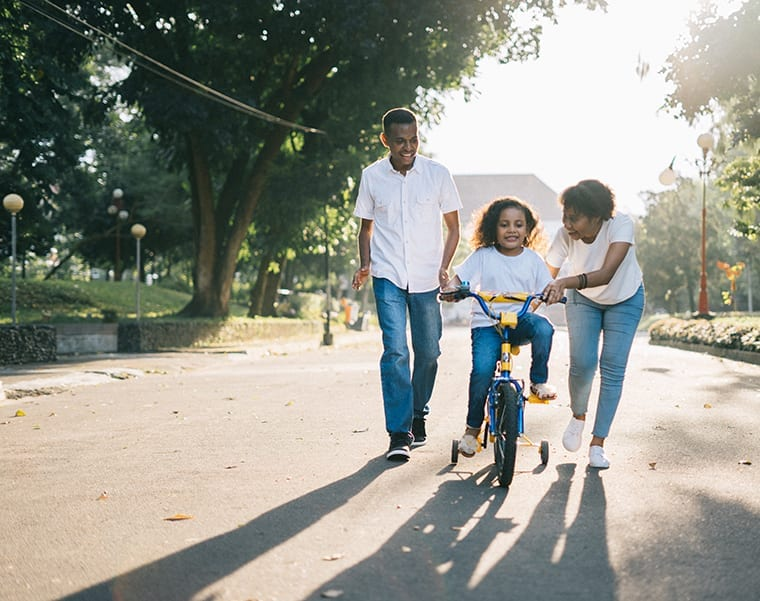 Cycling is a fun family activity that also improved mental and physical health.