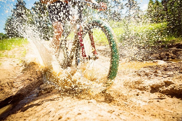 Keep rust from wearing your bicycle away with a quick hose down from a portable pressure washer