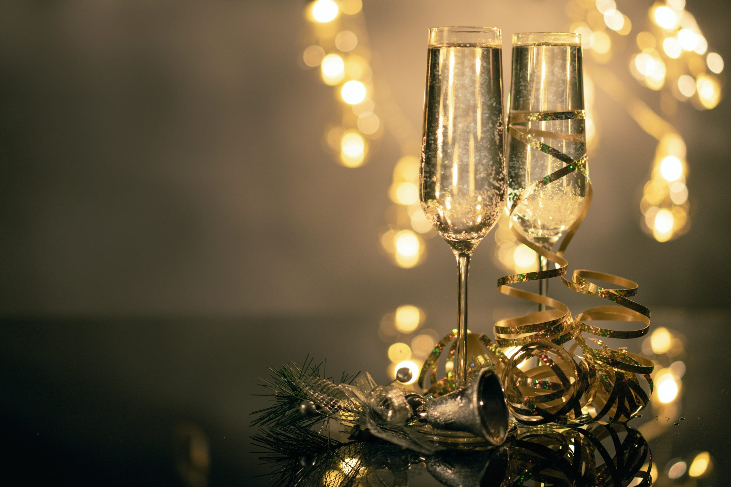 Champagne flutes are narrow to preserve the bubbles for longer.