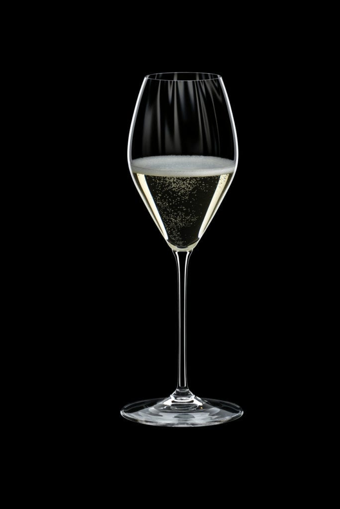 The beautiful flute-inspired glass will ensure a long-lasting bubbly sensation with every sip of champagne.