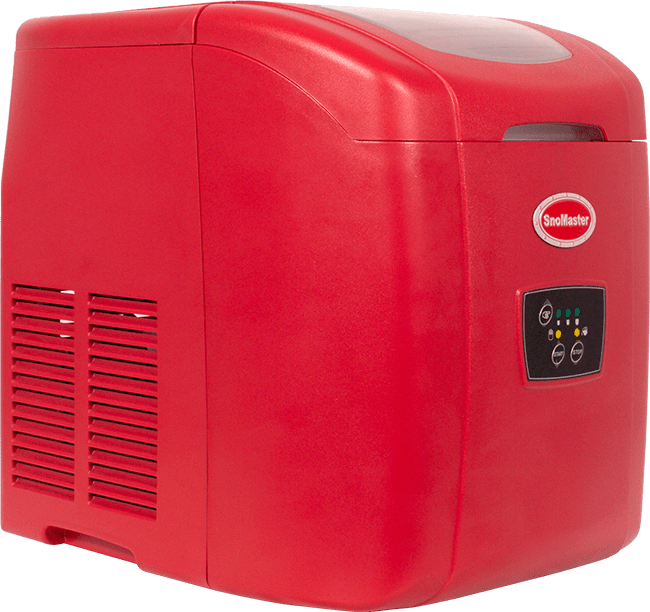 SnoMaster 12kg table top ice maker - red