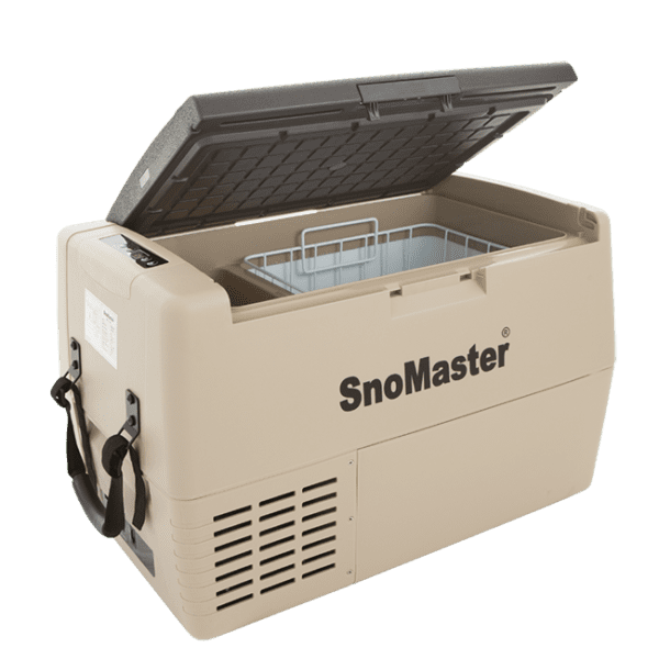 SnoMaster 40L Compressor Cooled Portable AC/DC Camping Fridge / Freezer with Straps and Visible Basket (SMDZ-LS40D)