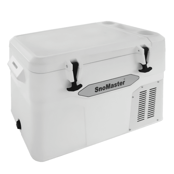 SnoMaster 45L Compressor Cooled Portable AC/DC Camping Fridge Freezer with Digital Temperature Control (SMDZ-LS45 ) Right Side Closed