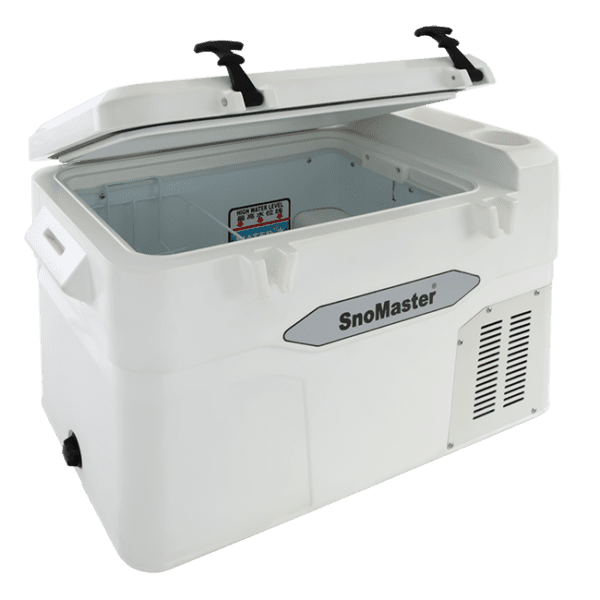 SnoMaster 45L Compressor Cooled Portable AC/DC Camping Fridge Freezer with Digital Temperature Control (SMDZ-LS45 ) Right View Open