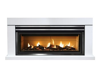 gas fireplace in wall
