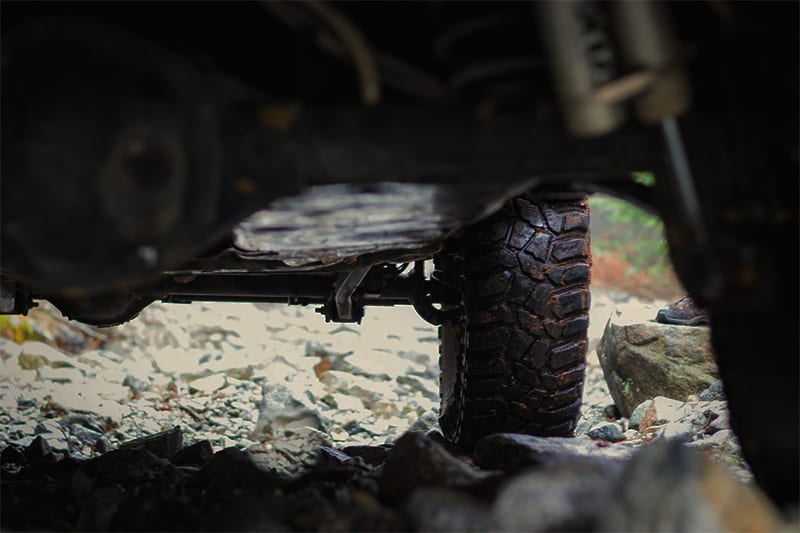 good ground clearance is key to off-road travel and 4x4 adventure