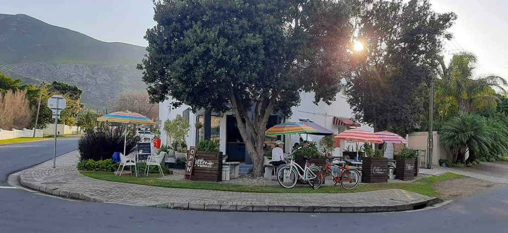 This colorful street cafe is a popular stopover for people on a Western Cape road trip