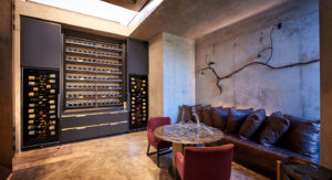 wine room equipped with a Snomaster wine cooler