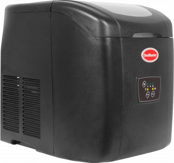 SnoMaster 12KG Portable Ice Maker (ZB-14) 10 Bullet Ice Cubes / Cycle Black Left View Close Up